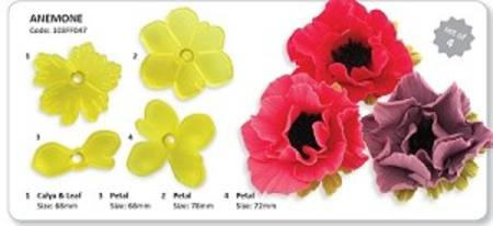 Anemone Cutter set of 4