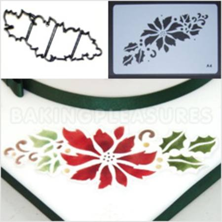 POINSETTIA GARLAND - STENCIL & CUTTER SET