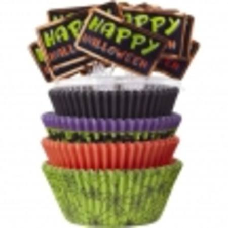 Halloween Standard Cupcake tube, 125 cases + Halloween picks