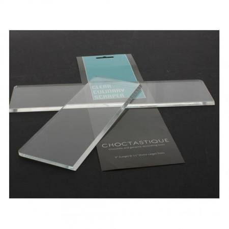 Acrylic Culinary Scrapers - Set of Two Large & extra Large