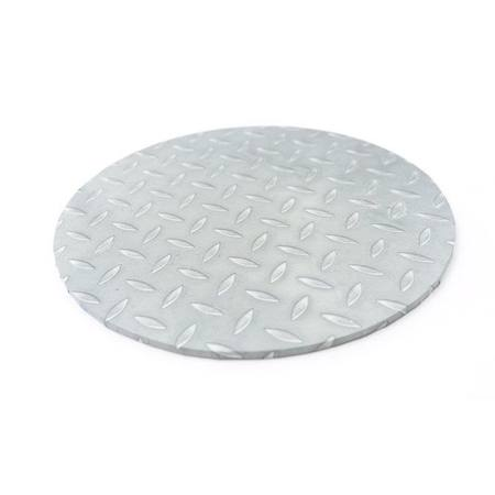 "PRESENTATION BOARD (CHECKER PLATE) - 14"" ROUND"