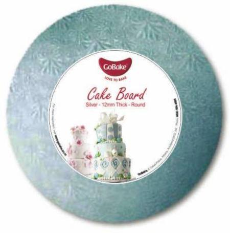 "18"" Round, Silver Masonite cake board, 9mm"