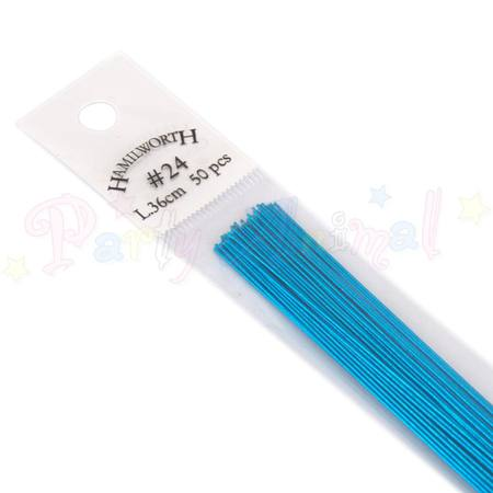 24 guage Metallic Wire, TEAL / AQUA, 50 pcs