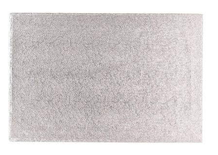 Oblong  Masonite 9mm silver 355 x 457 mm