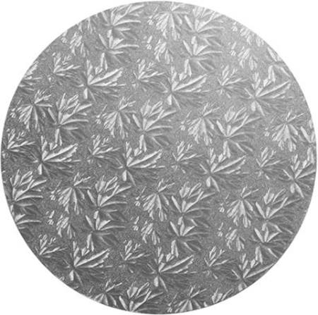 "10"" ROUND MASONITE cake board 9mm, silver - PACK of 5"