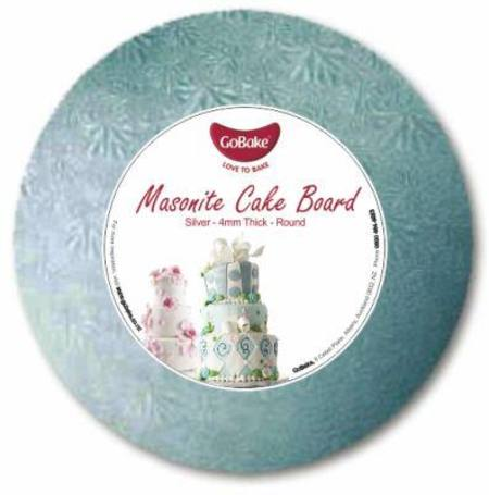 "18""  ROUND MASONITE Cake board, 4mm, silver"
