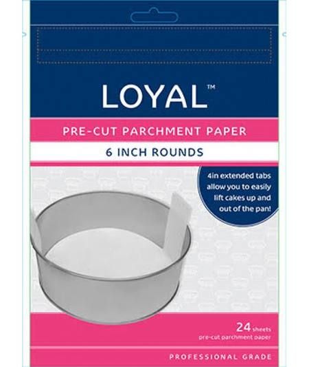"Pre-Cut Parchment Paper, 6"" rounds, pack of 24"