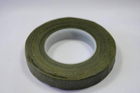 Floral Tape - Avocado Green waxed paper, 12mm wide