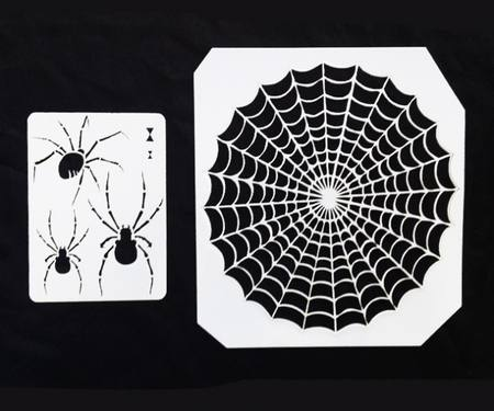 Spiders & Web Stencil