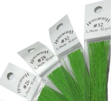 26 gauge wire, SPRING GREEN 50 qty