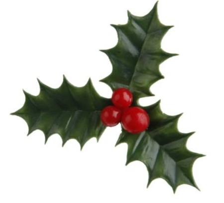 Plastic Holly - cake decorations 60mm